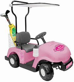 Let your child take a spin on the course (driveway) in this National Products 6V Golf Cart