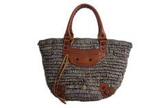 Balenciaga Straw Borse Handtasche Tasche Limited Edition