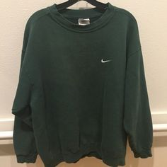Firm. ✔️ Large green Nike sweatshirt True vintage item, one of a kind. Firm price Nike Jackets & Coats