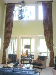 Love The Elegance Of These Two Story Drapery Panels. Drapery IdeasCurtain  IdeasTall WindowsIdeas ...