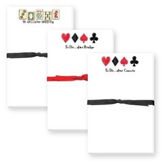 Mah Jong, Bridge or Canasta themed notepad Makes a great gift. By Donovan Designs, discounted at Small Fry Press. Great Gifts, Bridge, How To Make, Design, Design Comics