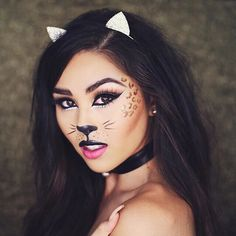Meow! @roxettearisa is one purr-ty kitty using our Wicked Gel Liner for her purr-fect #Halloween look. Shop this look right meow > link in bio. // #SigmaBeauty