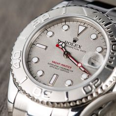 YachtMaster: PLATINUM ROLEX YACHT-MASTER. The watch made to withstand the rigors of a life at sea. Get one.
