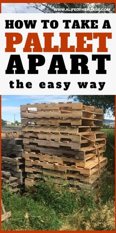It's easy to take pallets apart! Learn how to take them apart here so that you c… It's easy to take pallets apart! Learn how to take them apart here so that you can make some awesome pallet DIY projects! Pallet Ideas, Diy Pallet Projects, Pallet Diy Easy, Pallet Designs, Used Pallets, Wooden Pallets, Pallet Wood, Best Inventions Ever, Pallet Ceiling