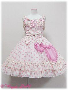 Angelic Pretty / Jumper Skirt / Love Heart Chiffon JSK