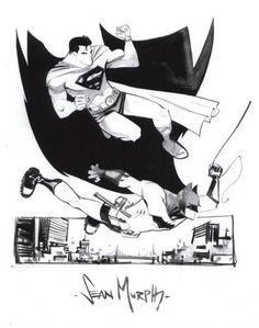 Batman and Superman by Sean Murphy <3