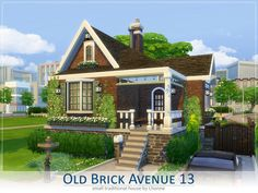 The Sims Resource: Old Brick Avenue 13 by Lhonna • Sims 4 Downloads