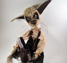 OOAK  Creepy  Cute  Artist Cat Darcy by DarkAlley on Etsy, $317.00