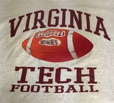 Virginia Tech Hokies Football Gray Large Short Sleeve Tee T-Shirt #SoffesChoice #VirginiaTechHokies