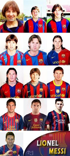 Some people look better as they age! Go Messi!