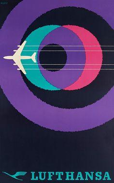 ジェット旅客機が登場した時代に制作された航空会社の魅力溢れるビンテージポスターいろいろ - DNA
