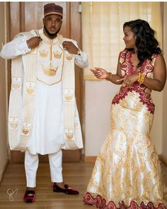 May God Bless your Union ? Photo dress : dress : Fan : : Photo and video Brides hair : Grooms first outfit styled by : Agbada : : Groomsmen outfit by : by : cc: African Party Dresses, African Wedding Attire, African Attire For Men, Latest African Fashion Dresses, African Dresses For Women, African Print Fashion, Party Dresses For Women, African Men, African Traditional Wedding Dress