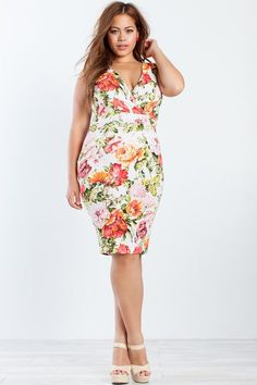 A'GACI | Secret Garden Bodycon Dress | #AgaciPlus