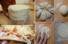 Σπιτική Ζύμη με ανθρακούχο νερό για να φτιάξεις απίθανες πιτσούλες - Toftiaxa.gr | Κατασκευές DIY Διακοσμηση Σπίτι Κήπος Pizza Recipes, Cooking Recipes, Yummy Food, Tasty, Camembert Cheese, Mashed Potatoes, Food And Drink, Snacks, Baking