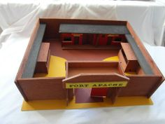 Vintage Rare Welkut Models Ltd Wild West Fort Apache Wooden Toy Boxed Ref 8112