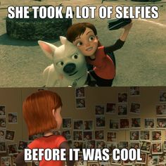 Bolt: Before Selfies were a thing #disney #bolt #selfies