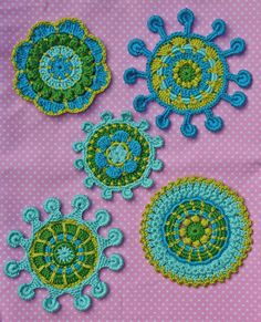 PDF...  ***This listing is for the crochet pattern only. Finished motifs are not included!***    5 beautiful motifs ..... as applique for children