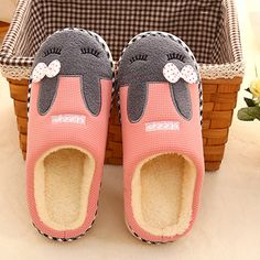 Pink Rabbit Plush Slippers For Adult
