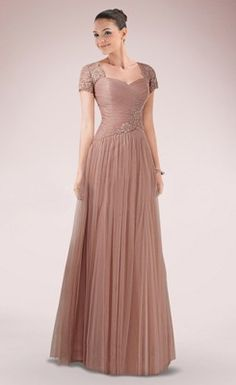 Delicate Appliqued Embroidered A-line Sweetheart Lace Mother of the Bride Dress