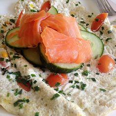 Eiweiß- Omelette mit Lachs