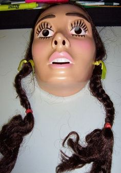 Vintage Wizard of oz Dorothy Face Mask Halloween ... kinda freaky, lol.