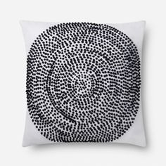 Loloi x Justina Blakeney Cotton Pillow Color: Natural/Black, Type: Throw Pillow, Fill Material: Down/Feathe Throw Pillow Sets, Pillow Covers, Throw Pillows, Justina Blakeney, Black Pillows, Cotton Pillow, Cotton Fabric, Accent Pillows, Prints