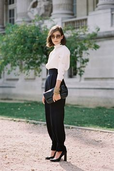 I think there's like three people on Earth who could wear these pants without looking a fool, and this lady is one of them.