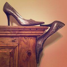 Brand new, geometric patterned Nine West heels Never worn. Toe creased. No wear-n-tear. True to size. Not narrow. 4in heel. Toe-cracks do peak out  Nine West Shoes Heels