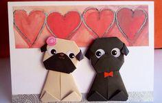 Pug Wedding Card Valentines card Funny Wedding Card от JollyCards