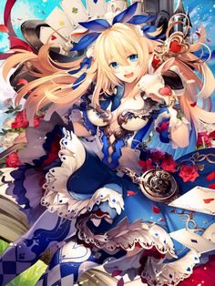 alice in wonderland - Anime Art Manga Anime, Art Anime, Anime Kunst, Anime Artwork, Anime Expo, Anime Girls, Manga Girl, Kawaii Anime, Lolita Anime