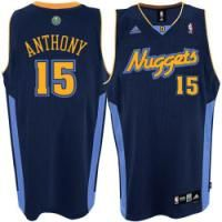 Carmelo Anthony Road Jersey, Denver Nuggets #15 Swingman Dark Blue NBA Jersey-Price :$20ID :2375