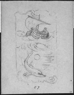 Album with Designs for Art Nouveau Jewellery ( 1899–1900).  Graphite and gouache by Edgar Gilstrap Simpson (British, 1867–1945 (presumed)).  Images and text courtesy The...