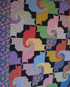puzzling cats quilt by foxygreen, via Flickr