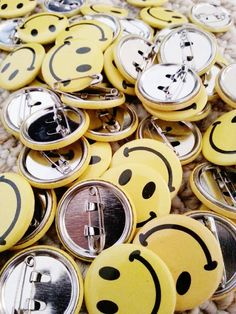 Smiley Face Button Pins, pin these on your t-shirt or use them as party favors!