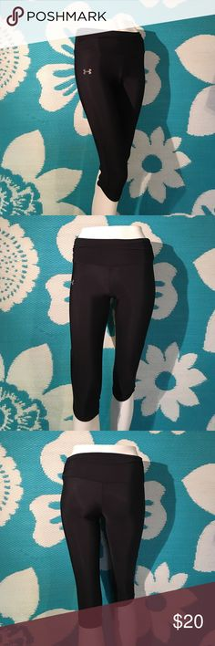 "UNDER ARMOUR TIGHTS Never worn so condition is new! UA tights, nylon/elastane blend, tight fit, mid-rise, fabric around the waist has a ""gathered"" looked, super cute! Inseam is approximately 17"", size XS.  Feel free to ask questions! I value the trust it takes to purchase items from a complete strangers closet and I will personally guarantee your satisfaction if there is something I overlooked in the condition or description! I do not trade, reasonable offers are welcome! Thanks! Under…"