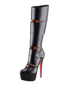 Bandita Leather Boot by Christian Louboutin at Bergdorf Goodman.