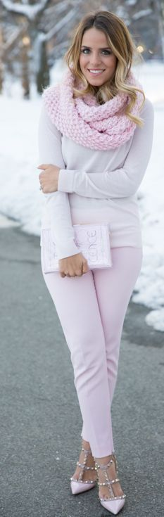 Red Valentino Pastel Pink Pant by Gal Meets Glam