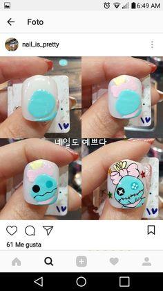 Nail Manicure, Gel Nails, Kawaii Nail Art, Anime Nails, Nail Drawing, Animal Nail Art, Disney Nails, Dream Nails, Nail Decorations