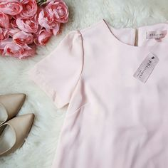NWT {Philosophy} Light Pink High Low Blouse -100% polyester  -New; with tag Philosophy Tops Blouses