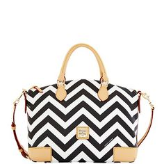 so cute!  Dooney & Bourke: Chevron Satchel