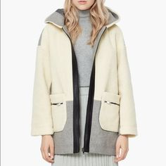 MANGO Faux Shearling Coat worn once - brand new condition.   ✔️Shipped ASAP  ✔️Surprise present included  ✔️Bundles ❌PayPal ❌Trades Mango Jackets & Coats