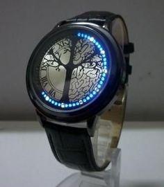 Minimalist Leather Waterproof LED Watch Men & Women Smart Watch
