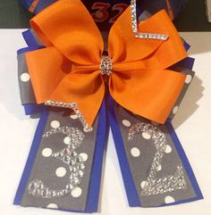 On Sale Boutique Hair Bow OTT MTM School or Team Colors on Etsy, $12.00