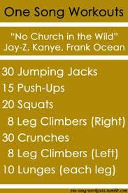 one song workouts