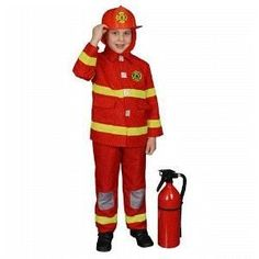 Fire Fighter (red) Boy Toddler Fireman Costume Size 4T by Dress Up America. $22.50. Item Includes:: Jacket, Pants and Hood. Pictured items not included:: Shoes, Helmet, Fire Extinguisher. Care Instructions:: Gentle Machine Washable. Available in Sizes:: 2T, 4T, Small and Medium. polyester. Material:: 100% Polyester; Flame Retardant. Fire Fighter (red) Boy Toddler Fireman Costume Size 4T includes: Jacket, Pants, and Hood. Size 4T Toddler  (NOTE: Helmet NOT included.)