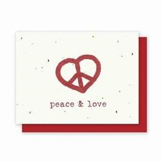 Valentine's Day Peace and Love - 4 Pack