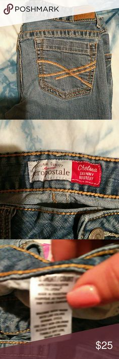 Aero Chelsea skinny bootcut jeans 11/12 Good used condition Aeropostale Jeans Boot Cut