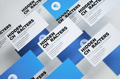 Hidden Characters business cards.