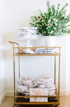 Party favors & a bar cart   photo by Wynn Myers