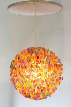 The Gummy Bears Chandelier.  They're acrylic, but still amazing... If we ever have a game room or something fun and funky, this WILL be there!